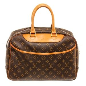 Louis Vuitton Canvas Leather Deauville Doctor Bag